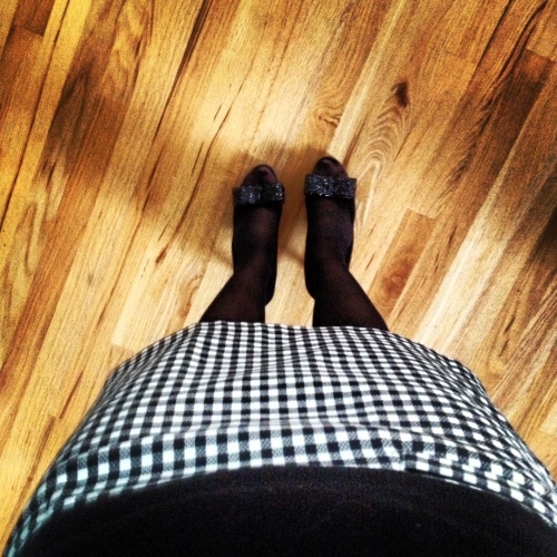 My Christmas Outfit (part deux): Houndstooth & Kate Spade Sparkle Heels