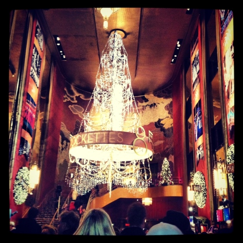 Inside Radio City Music Hall!
